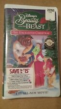 Beauty and the Beast An Enchanted Christmas VHS Tape 1997
