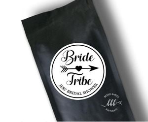 12 White Round Stickers Bride Tribe Labels Bachelorette Hen Personalised 5cm