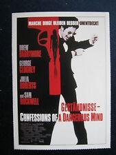 Filmplakatkarte cinema  Geständnisse   Sam Rockwell, Drew Barrymore