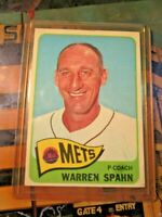 1965 Topps Warren Spahn New York Mets #205 Baseball Card~