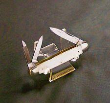 W.H. Morley Knife Clover Brand Splitback Whittler Cir-1913 to 1927 W/MOP handles