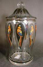 Jugendstil / Art Deco - Glas Deckeldose. Haida / Steinschönau, um 1920.