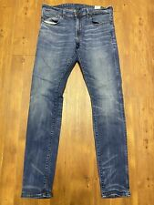 G-Star Raw Mens Blue 3301 Deconstructed Denim Super Slim Skinny Fit Jeans 32x32