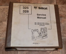 Bobcat Service Repair Manual 325 328 Compact Excavator #6902745