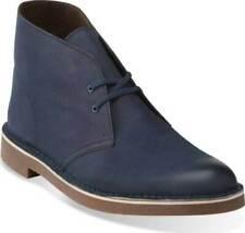 NEW Men's Clarks Bushacre 2 Navy Blue Leather Chukka Desert Boots 11.5 45