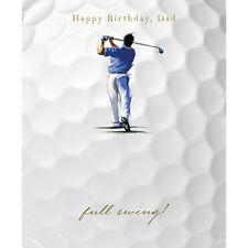 """Papa Carte D'Anniversaire """" Golfer en Complet Swing """" Taille 17.8cm X 14.6cm -"""
