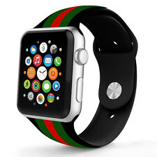 SILICONE SPORT GUCCI PATTERN REPLACEMENT BAND FOR APPLE WATCH 42mm Series1-3 US