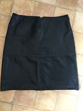 Versatility Vintage Black Leather Skirt, Size 14, Excellent Condition