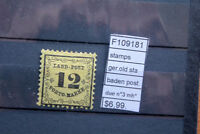 STAMPS OLD STATES GERMANY GOOD QUALITY BADEN POSTAGE DUE MICHEL N°3 MH*(F109181)