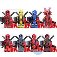 8PCS  Different Style Deadpool Superhero Mini Figure Building Blocks DIY Toy