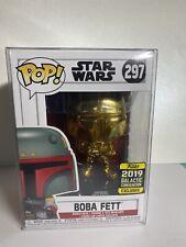 Funko Boba Fett Gold Chrome #297 Mandalorian Star Wars Galactic Convention 2019
