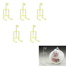 Tea Cup And Saucer Display Stand Holder Rack Easel Gold 5pcs