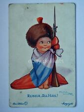 FLORA WHITE RUSSIA ALL HAIL old postcard AK militari vecchia cartolina