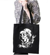 The Mad Hatter Black Tote Bag Gift Shopping Genesis Charisma Records Alice