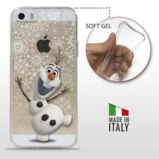 iPhone 5 5S SE TPU CASE COVER PROTETTIVA GEL TRASPARENTE Disney Frozen Olaf