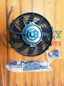 Universal 9 inch 12V volt Electric Cooling Fan Thermo Fan + Mounting kits