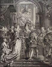 Rubens Mariage de Marie de Médicis avec Henri IV gravure héliogravure XIXe 1868