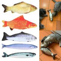 Pet Soft Plush 3D Fish Shape Cat Toy Fish Catnip Toy Stuffed Pillow Doll Playing