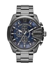 Diesel DZ4329 Mega Chief Men's Chronograph Grey With Blue Dial Analogue Watch