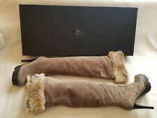 Guiseppe Zanotti Beige Suede Calour Ardesia Boots Size 5.5 US $1,295