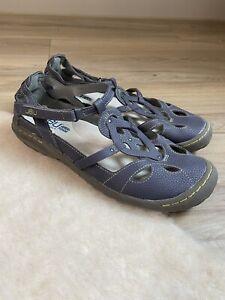 Jambu Women's Spain Flat mary jane shoes size 8 Blue