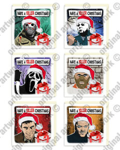 Horror Movie Villains Christmas Cards Cult Goth Monster XMAS Greeting Cards