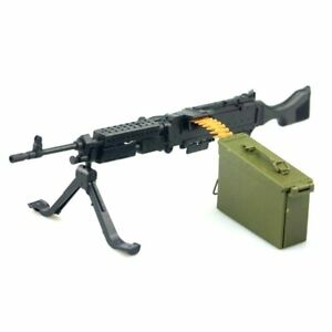 "1/6 Scale M240B Machine Gun Weapon Military For 12"" Action Figure Soldier Toy UK"