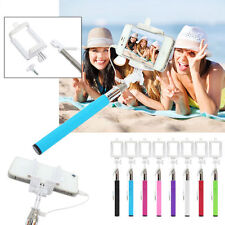 3.5mm Extendable Wired Selfie Stick For Cellphone iPhone 4/5/6/7/8 Galaxy Note