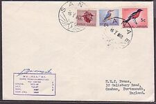 ANTARCTIC SOUTH AFRICA 1963 Marion Island ship cover (35511)