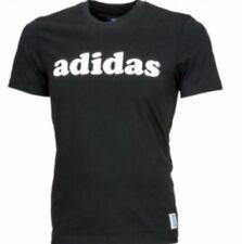 ADIDAS Originals Uomo Nigo LINEAR TEE T shirt nera nuova con etichetta GRATIS 1st CLASSE M69155
