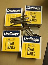 "4 x 225g boxes of 65mm 2-1/2"" Bright oval nails"