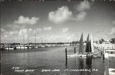 Ft. Lauderdale Fl Bahia Mar Yacht Basin Real Photo Postcard