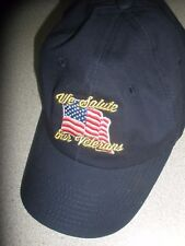 We Salute our Veterans Island view hat with adjustable strap