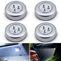 1X 3 LED Touch Night Light Battery Operated Tap Stick On Lamp Car Home Cabinet