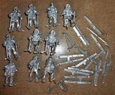 10 x 28mm scale Baker Company Winter War Finnish Ski Troops unpainted