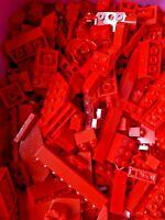3 Pounds LEGO Bulk Lot RED Bricks Plates Parts Building mix pieces lbs