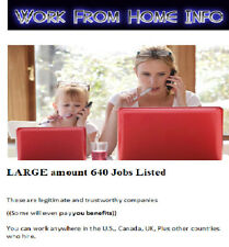 Work From Home Jobs, Work At Jobs Homebased Jobs How To Make Money, 640 Jobs WOW