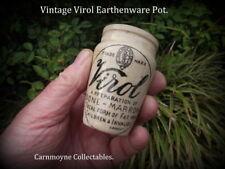 Small Original Vintage Virol Earthenware Pot. Lancet Reference.AH4618.