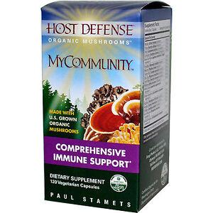 Fungi Perfecti Host Defense My Community Immune Support 120 Veg Capsules ex 1-23