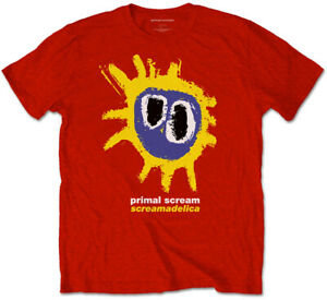 Primal Scream 'Screamadelica' (Red) T-Shirt - NEW & OFFICIAL!