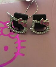 Nwt Official Sanrio Hello Kitty Rhinetone Crytal Earrings Post Gift Package