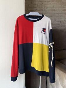 Karl Kani Multicolored Crewneck Logo Pullover Sweatshirt Size XL