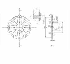 Honda CT110 (80-) Rear Steel Sprockets 42T 428 230 999 42