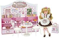 Sanrio x TAKARA TOMY Licca Doll Rika Chan Hello Kitty Sweets Cafe Set Girls Toy