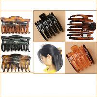 Hair Claw Clip Comb Butterfly Women Large Riser Jaw Grip Clamp BullDog Banana