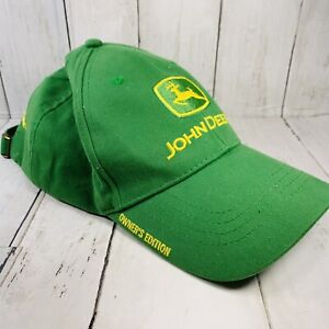 John Deere Owners Edition Green One Size Adjustable Farmers Cap Hat