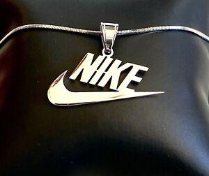 Nike Swoosh Pendant Necklace