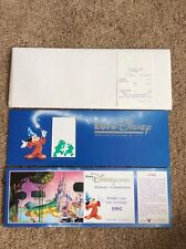 Disney Paris EuroDisney Commemorative First Day Pass April 1992 Ltd Ed VERY RARE