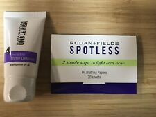 NEW Rodan + Fields Unblemish Invisible Matte Sunscreen Step 4 + Oil Papers