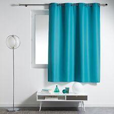 Douceur D'intérieur Essentiel Rideau À Œillets Plastique/polyester Bleu 140 x